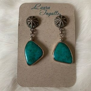 NWT • sterling silver Chrysocolla earrings